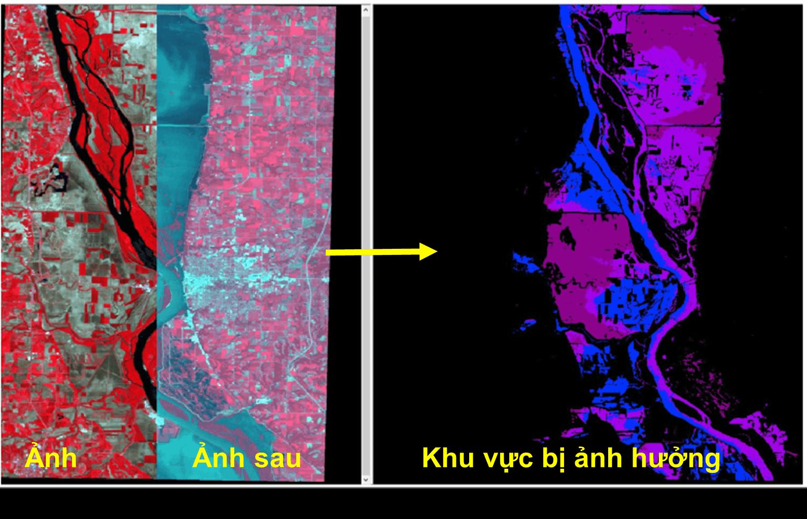 Xác định khu vực bị ảnh hưởng bởi lũ lụt sông Mississippi năm 1989, sử dụng kỹ thuật Change Detection trên phần mềm Erdas Imagine