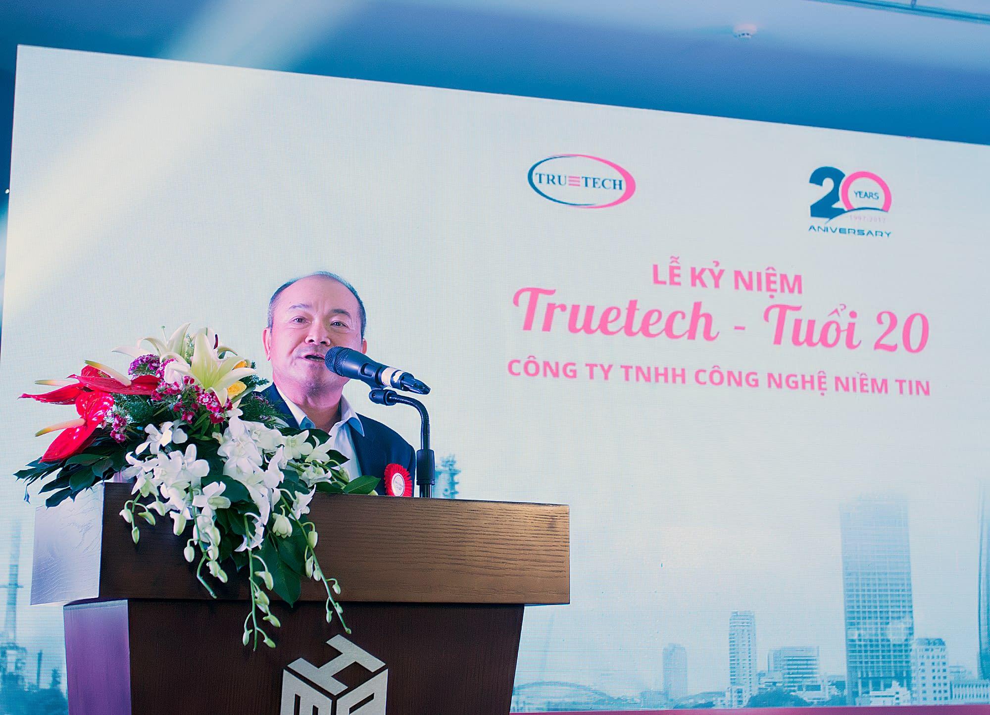 Giám đốc công ty Truetech - Ông. Nguyễn Sỹ Thanh phát biểu