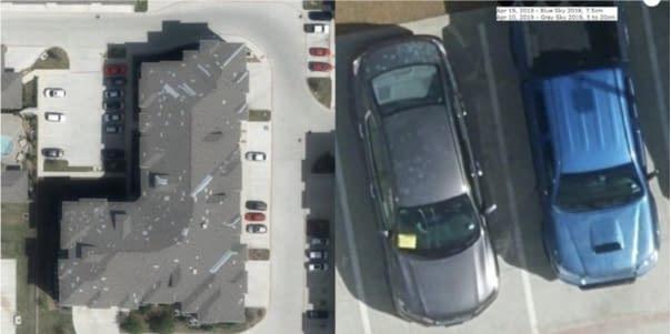 Sử dụng ảnh máy bay độ phân giải cao để xác thực và tính toán mức độ thiệt hại đối với tài sản ô tô và nhà ở, nguồn: Geospatial Intelligence Center, National Crime Insurance Bureau, 2019